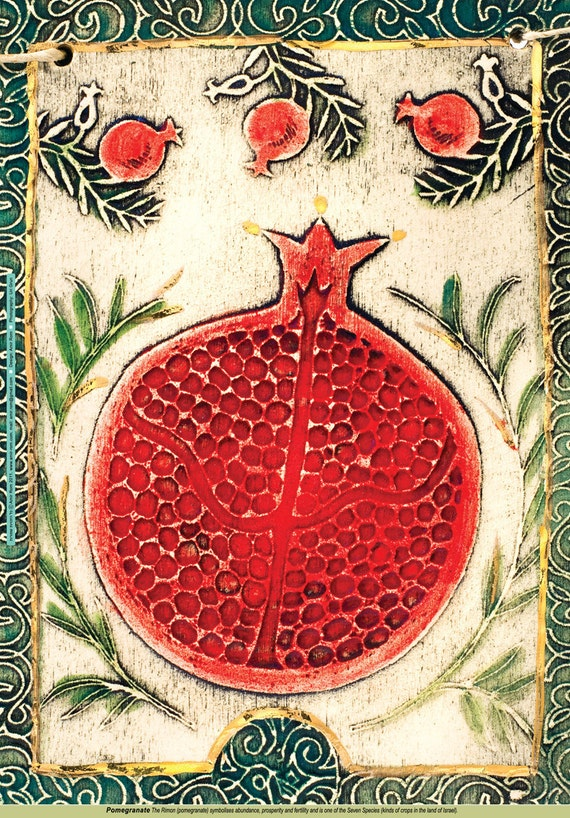Items similar to Poster of pomegranate on EtsyPersian Pomegranate Art