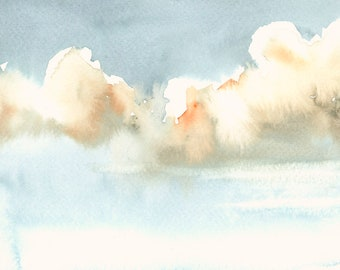 Clouds Fine Art Print from Original Watercolor
