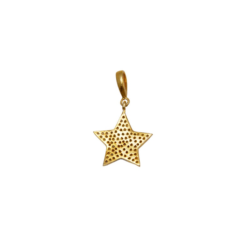 Star Shaped Pave Diamond Pendant Made In 925 Sterling Silver DP1032