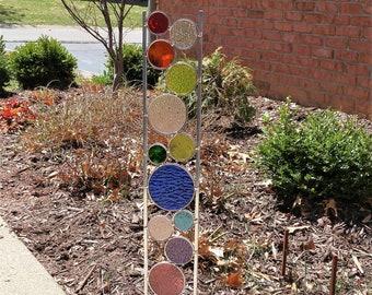 Glass Garden Art | Etsy