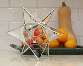 Stained glass Moravian Star table centerpiece decoration. Celestial wedding decor. Two sizes, 3 finishes. Starry night theme.