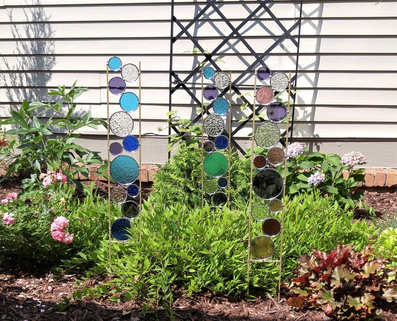 Exceptionnel Glass Garden Art Stake. Tall Metal Suncatcher Sculpture For Garden Decor.  Best Gift Idea For Gardening Lovers. Great Housewarming Present.
