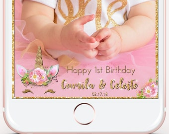 Snapchat geofilter, Unicorn snapchat, snapchat filter, unicorn filter, personalized gift, birthday filter, baby shower filter, snap chat,