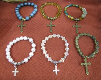 499 CLEARANCE Rosary Bracelets Your Choice Of Color 099 CENTS Shipping