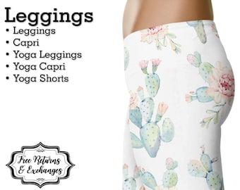6b1891cdf1ed Cactus Leggings • Womens Clothes  White Yoga Pants