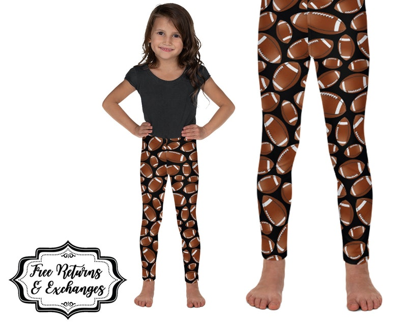 7e4292082d Kids Football Leggings Football Gift for Kid Girls | Etsy