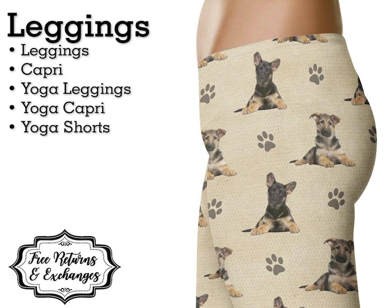 1fecbc09f36c9 German Shepherd Puppy Leggings Womens Clothes Yoga Pants | Etsy