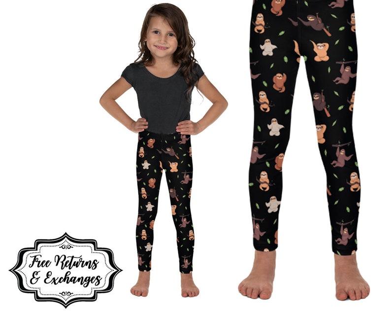 edcd2935075950 Sloth Kid Leggings Sloth Gift for Girl Kids Clothing | Etsy