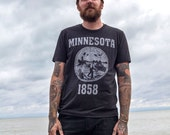 Minnesota State Seal T-Shirt. Vintage Style Soft Unisex Men 39 s Slim Fit and Women 39 s Tee