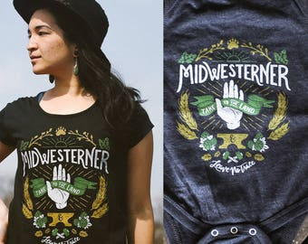 Leave No Trace Midwesterner Matching Ladies T-shirt and Onesie Set. Mother d25c02c0d