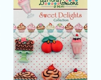 Sweet Delights Collection - Please Choose Style - Shank style buttons from the Buttons Galore Button Co - embellishments, scrapbooking