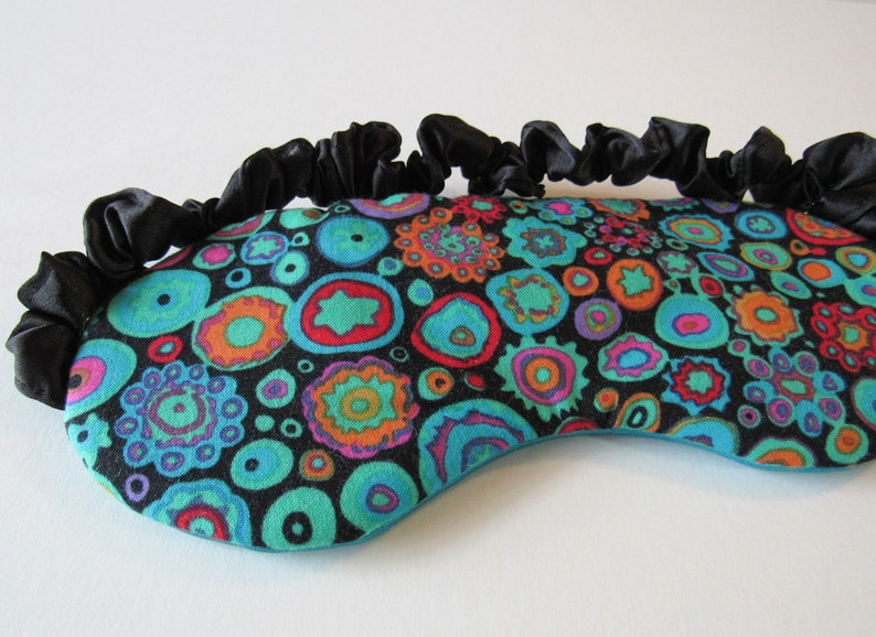 Kaffe Fassett Cotton Sleep Mask in Abstract Circles  Eye Mask Psychedelic
