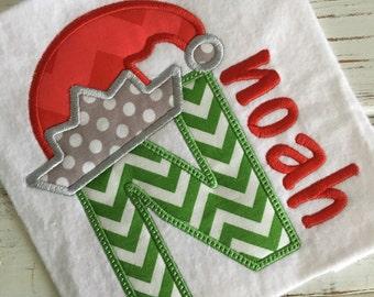 323c9b1db21c5 Elf Hat Christmas Applique Alphabet Applique Embroidery Design (A-Z) 5x7  6x10