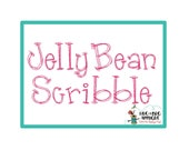 Jelly Bean Scribble Quick Stitch Embroidery Font