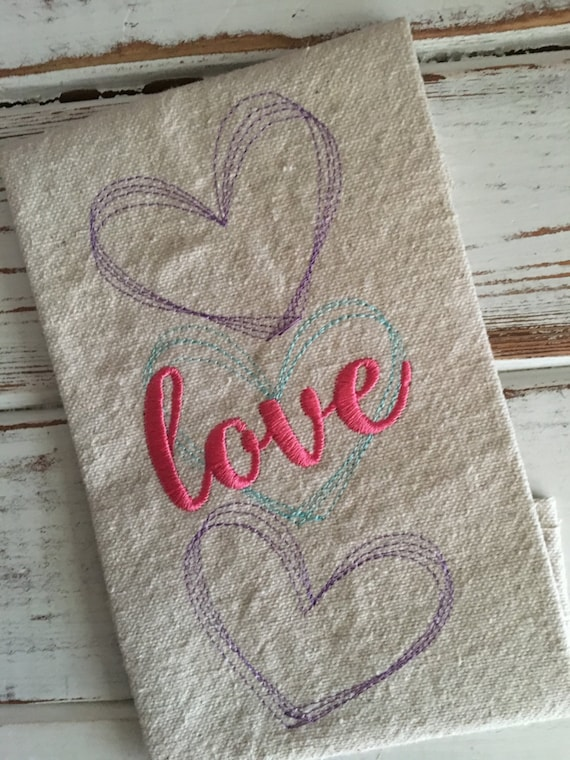 Hearts Love Sketch Valentine S Day Embroidery Design 5x7 Etsy