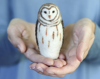 LIVE ZOOM Needle Felting Workshop - Make a Barred Owl! - Zoom Access Only