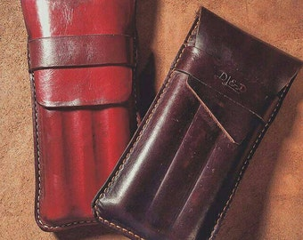 Molded Leather Cigar Case