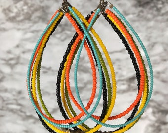 Adeyele Tribal  Earrings-African Jewelry-Tribal Jewelry-Ethnic Jewelry-Boho Jewelry-Afrocentric Jewelry--Fashion Jewelry
