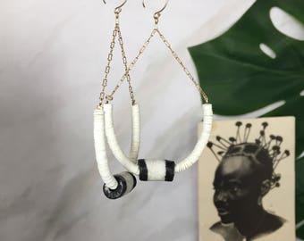 Temitayo tribal earrings  African Wedding Ethnic Jewelry Tribal Jewelry African Jewelry Afrocentric Ethnic Earrings Tribal Earrings African