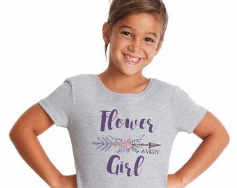 27fa02c0 Flower Girl Gift, Petal Patrol T Shirt boho, Team Bride, Personalized Bridal  Party Present, Rustic Boho Wedding, Brides Tribe Flower Girl