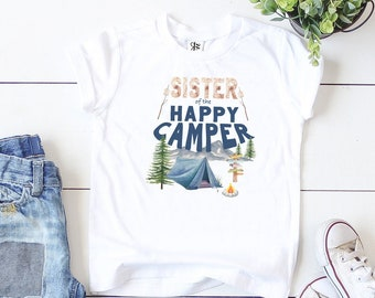 Happy Camper Shirt, Camping Birthday, Sister Birthday, Camping Theme, Lumberjack Party, One Happy Camper, Wild One Birthday, Camping Party