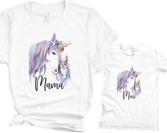 Mama and Mini Shirts or Onesie® - create a matching shirt set for yourself and your little one, Unicorn Shirt, Mothers Day Gift, Mommy & Me