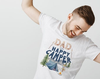 Happy Camper Shirt, First Birthday, Dad of the Happy Camper, One Happy Camper, 1st Birthday, Camping Shirt, Camping Party, Camping Birthday