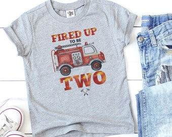 Firetruck Birthday Shirt, Fireman Birthday Tshirt, 2nd Birthday Fireman, Birthday Fire Truck, Firefighter Birthday Shirt, Fire Truck