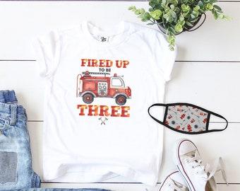 Firetruck Birthday Shirt, Fireman Birthday Tshirt, 3rd Birthday Fireman, Birthday Fire Truck, Firefighter Birthday Shirt, Fire Truck