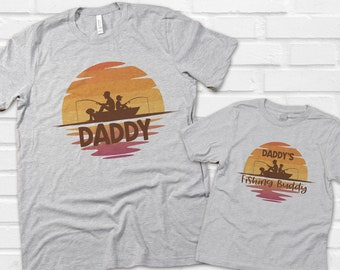 Daddy's Little Fishing Buddy and Daddy Fishing Shirts or Onesies®, Great Father's Day Gift from Son, this listing is not sold as a set