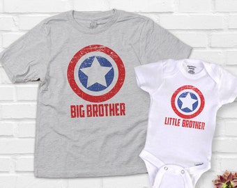 Big Brother Little Brother Shirts and Onesie®, Superhero Brother, Biggest Brother Shirt, Big Brother in Training, Baby Announcement Pictures