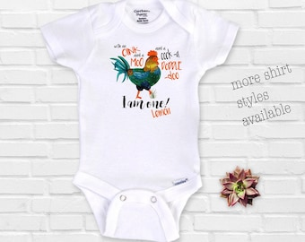 Farm Birthday, With an Oink and a Moo, First Birthday, Cock a doodle do , 1st Birthday, Chicken Rooster, PersonalizedOnesie®, Baseball Shirt