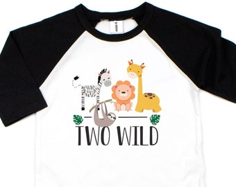 Second Birthday Boy, Two Wild Shirt,  Zoo Birthday Shirt, Two Shirt, 2nd Birthday, Jungle Boy, Safari Birthday Party Shirt, Zoo Animals