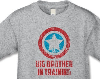 Big Brother Shirt Superhero Big Brother in Training T Shirt Pregnancy Announcement Long Sleeve Shirt Baseball Shirt Baby Announcement Gift