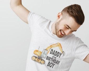 Daddy of the Birthday Boy Shirt, 4th Birthday, Construction Birthday, Boys 2nd Birthday, Bulldozer Shirt, Yellow Digger Party