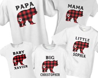 f9b67d95d Plaid bear pajamas