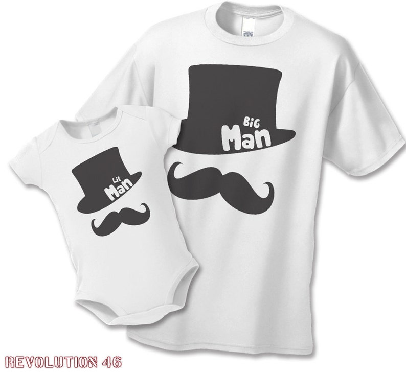 08c2bc35 Father's Day Big Man Little Man T-Shirts or Infant | Etsy