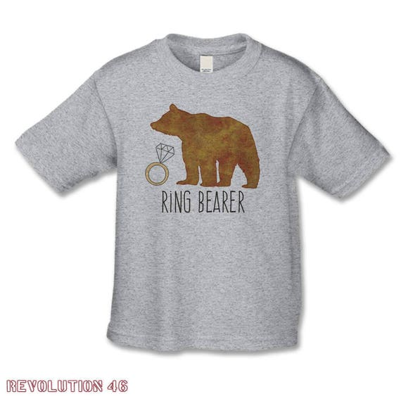 Ring Bearer Gift Ring Bearer Bear Shirt Personalized Etsy