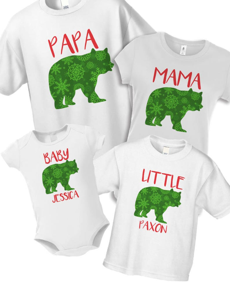 7a8eea6aca Family Christmas Pajama Papa Bear Baby Bear Shirts Matching