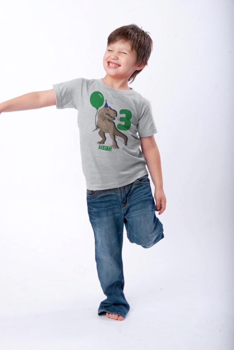 Best Seller Dinosaur Birthday Shirt 3rd Birthday T-Shirt image 0