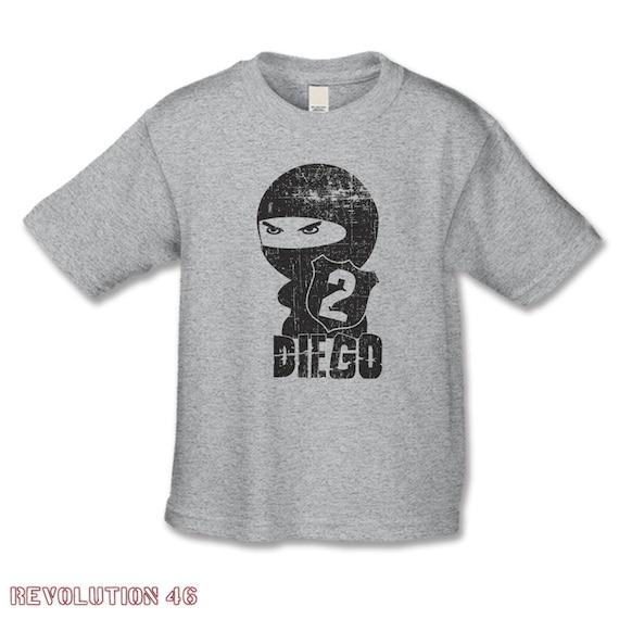 Personalized Ninja Birthday Shirt Number 2 T