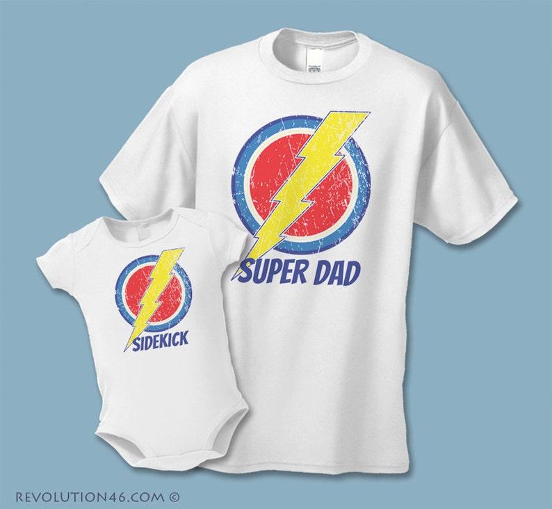 f26adb5b Father's Day Gift Super Dad and Sidekick Shirts | Etsy