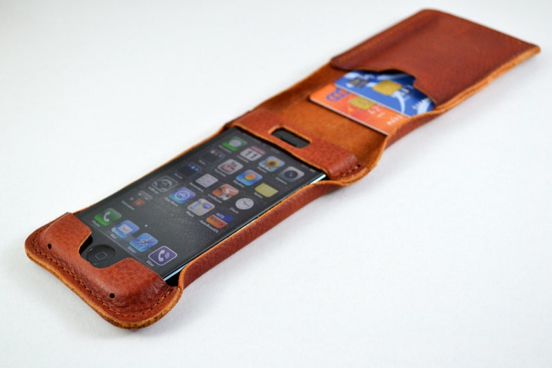 sports shoes 9620f 130f0 iPhone 5 leather case and card holder