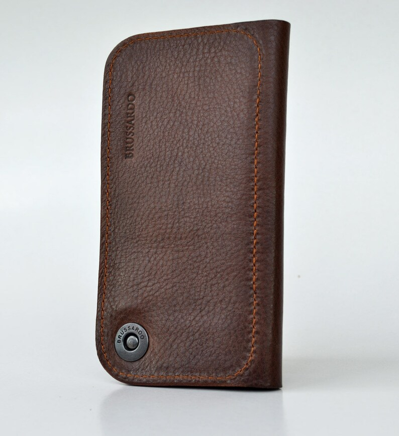 iPhone 12 Mini Wallet case Full grain leather.