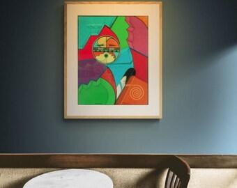 Santa Fe fine art New Mexico Fine Art Print art print native art print native sun art native art print