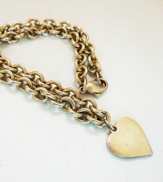 Vintage Sterling Silver Heart Pendant, Valentine H