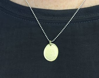 Gold disc pendant necklace - Unisex Simple 18 ct gold necklace - layered personalized gold pendant - Birthday Present - Mothers Day Gift