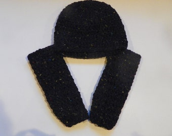 Black Baby Leg Warmers and Hat Set Size is 3M-4Years