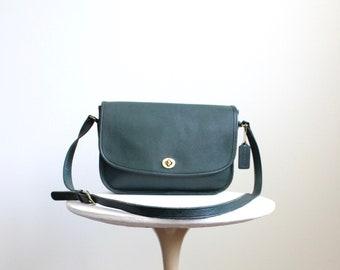 4eb4cc23 Vintage Coach Bag // Crossbody Saddle Black Leather USA | Etsy