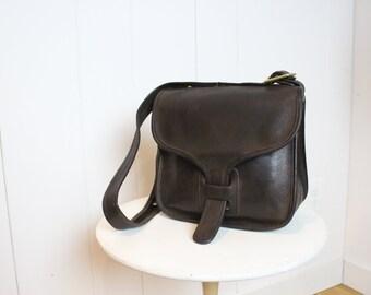 Vintage Coach Courier Bag    Saddle Bag Brown RARE    70s Bonnie Cashin New  York City Messenger Bag 6286985760770